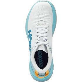 Hoka One One Carbon X Running Shoes Women white/angel blue